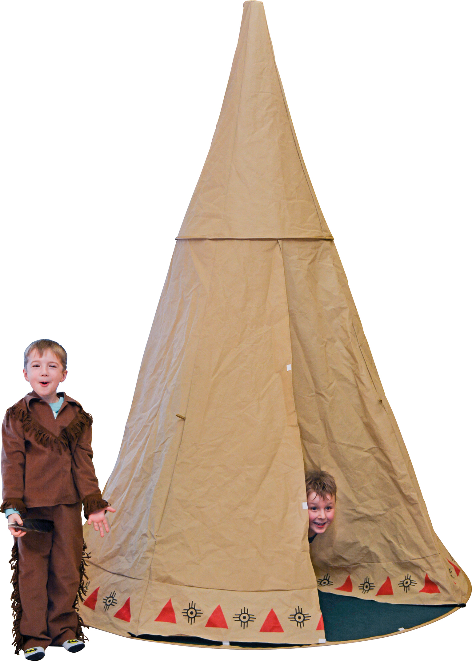 indianerzelt tipi f r kinder 250 x 200 cm rund freizeit. Black Bedroom Furniture Sets. Home Design Ideas